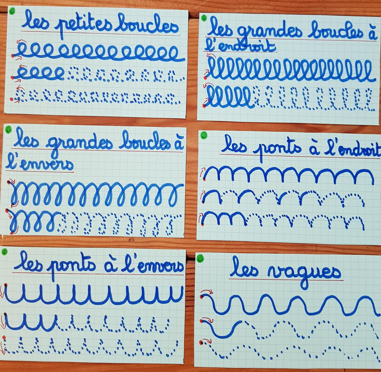 Images graphismes pour écriture cursive 2