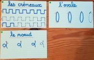 Images graphismes pour écriture cursive 3