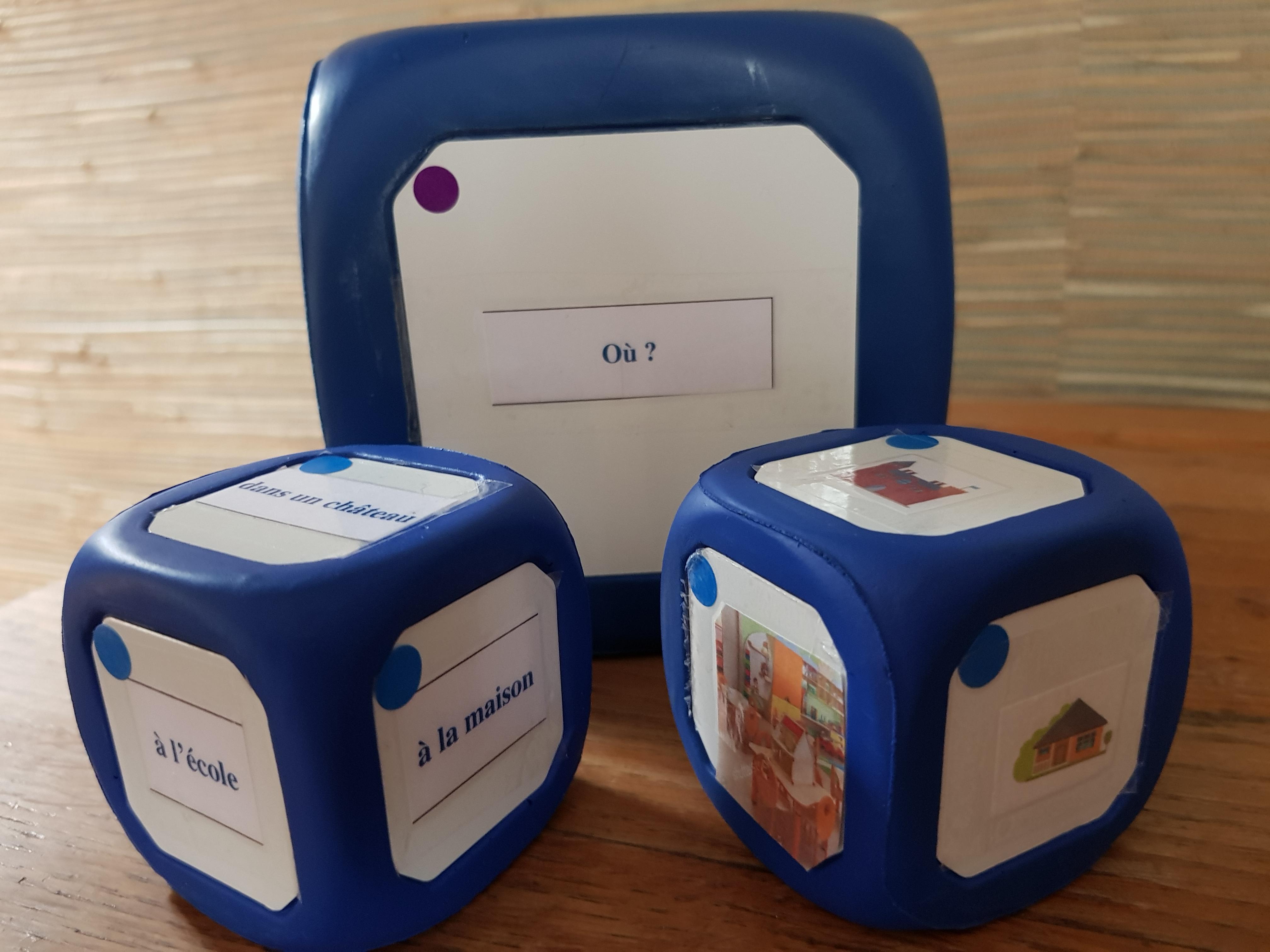 Petits cubes écriture et image
