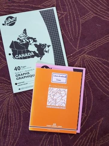 Différence de taille entre cahiers français et québécois