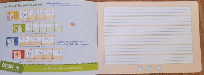 Cahier de maternelle en Autriche pour l'écriture 1