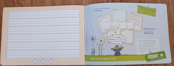 Cahier de maternelle en Autriche pour l'écriture 2