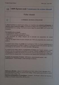 Fiche-résumé CSE 10