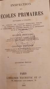 Inspections des écoles primaires Brouard 1881