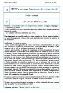 Fiche-résumé CSE 14