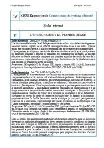 Fiche-résumé CSE 16