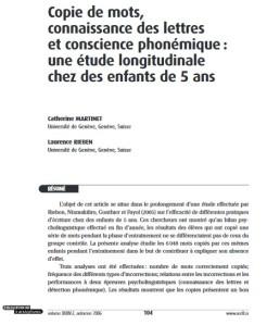 L5 Article Educ et Francophonie Martinet 2006