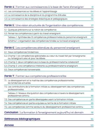 Table des matières réf comp 2
